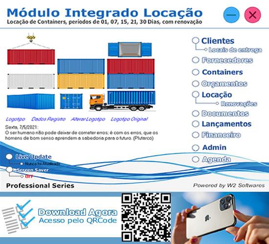 Software locação de container sistema locação de container containers