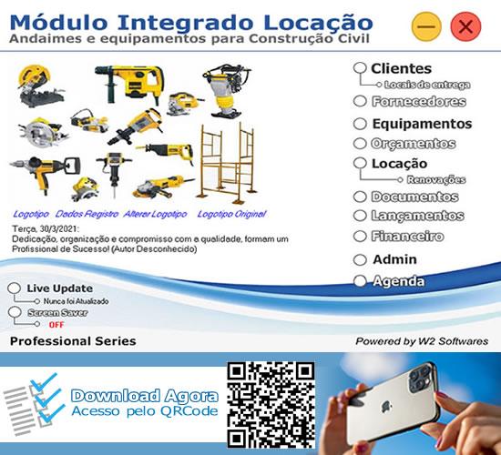 Software locação de equipamentos máquinas e andaimes