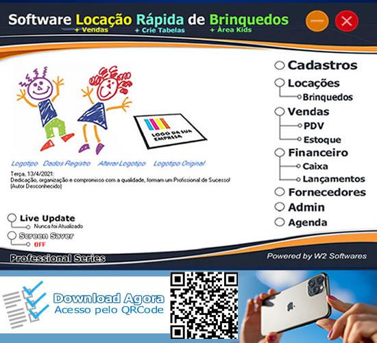 Software Locação Rápida de Brinquedos e vendas para shopping