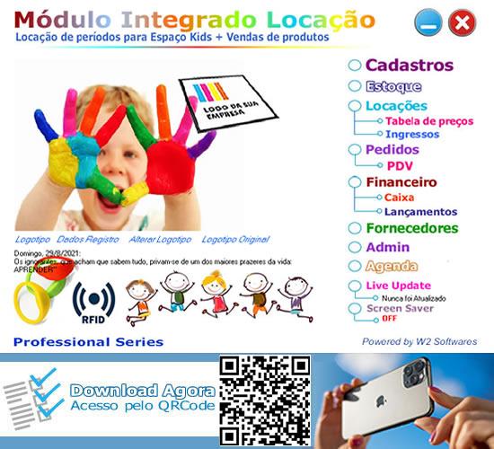 Software Locação de espaço area kids com vendas