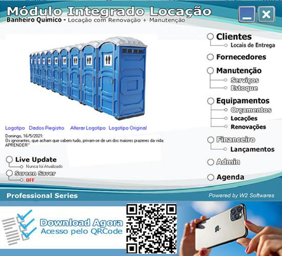 Software Locação banheiro químico locação banheiros químico  com O.S.
