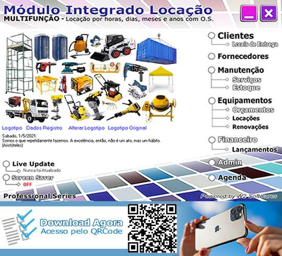 Software locação de andaimes equipamentos ordem de serviços